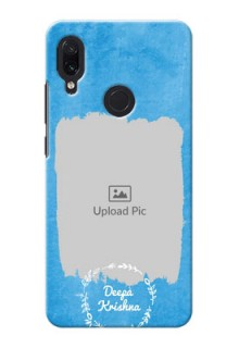 Redmi Note 7 custom mobile cases: Blue Color Vintage Design