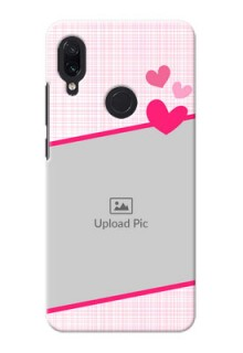 Redmi Note 7S Personalised Phone Cases: Love Shape Heart Design