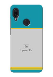 Redmi Note 7S personalized phone covers: Yellow & Blue Design