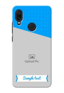 Redmi Note 7S Personalized Mobile Covers: Simple Blue Color Design