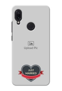 Redmi Note 7S mobile back covers online: Just Married Couple Design