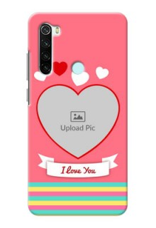 Redmi Note 8 Personalised mobile covers: Love Doodle Design