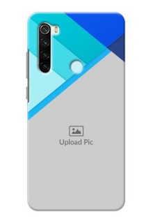 Redmi Note 8 Phone Cases Online: Blue Abstract Cover Design