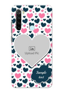 Redmi Note 8 Mobile Covers Online: Pink & Blue Heart Design