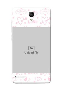 Xiaomi Redmi Note Prime Flying Hearts Mobile Back Cover Design