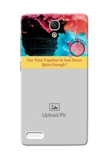 Xiaomi Redmi Note Prime best friends quote with acrylic painting Design