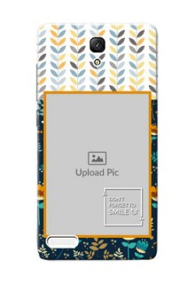 Xiaomi Redmi Note Prime seamless and floral pattern design with smile quote Design