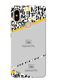Xiaomi Redmi S2 2 image holder with letters pattern  Design