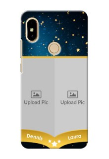 Xiaomi Redmi S2 2 image holder with galaxy backdrop and stars  Design