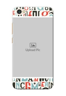 Xiaomi Redmi Y1 Lite Colourful Alphabets Mobile Back Case Design
