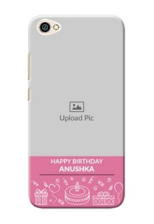 Xiaomi Redmi Y1 Lite plain birthday line arts Design