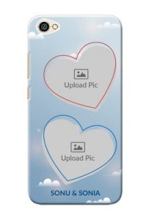 Xiaomi Redmi Y1 Lite couple heart frames with sky backdrop Design