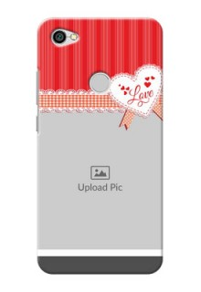 Xiaomi Redmi Y1 Red Pattern Mobile Cover Design