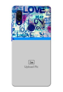 Redmi Y3 Mobile Covers Online: Colorful Love Design