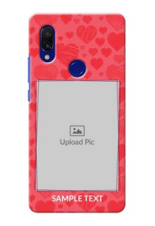 Redmi Y3 Mobile Back Covers: with Red Heart Symbols Design
