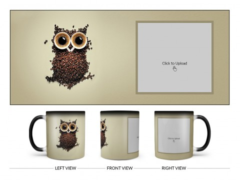 Coffee Beans For Coffee Lovers Design On Magic Black Mug