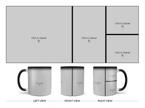 4 Pic Upload Upload Design For Multiple Occasions Design On Magic Black Mug