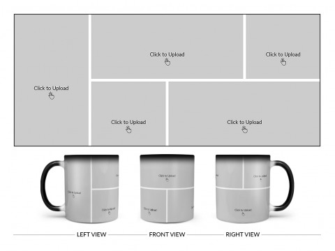 5 Pic Upload Design For Any Occasions & Event Design On Magic Black Mug