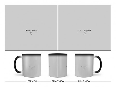 2 Large Pic Upload Design For Any Occasions & Event Design On Magic Black Mug