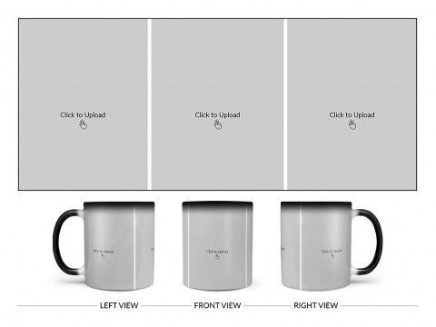 3 Equal Pic Upload Design For Any Occasions & Event Design On Magic Black Mug