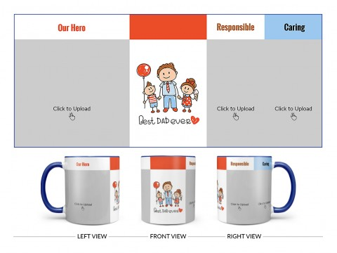 Best Dad Ever Design On Dual Tone Blue Mug