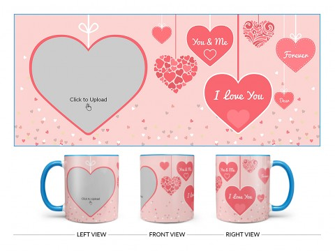 Your & Me Forever Design On Dual Tone Sky Blue Mug