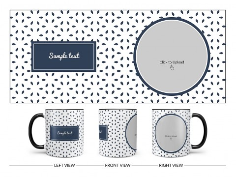 Flower Petals Pattern Background Design On Dual Tone Black Mug
