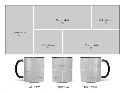 5 Pic Upload Design For Any Occasions & Event Design On Dual Tone Black Mug