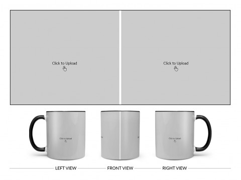 2 Large Pic Upload Design For Any Occasions & Event Design On Dual Tone Black Mug