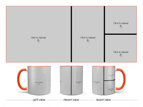 4 Pic Upload Upload Design For Multiple Occasions Design On Dual Tone Orange Mug
