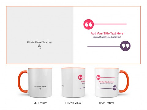 Corporate Mug With Custom Message Design On Dual Tone Orange Mug