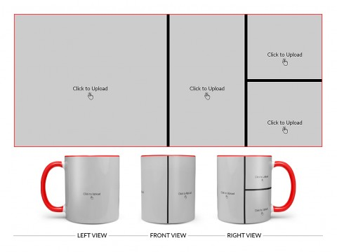 4 Pic Upload Upload Design For Multiple Occasions Design On Dual Tone Red Mug