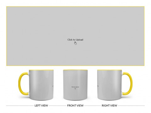 Full Pic Upload Upload Design On Dual Tone Yellow Mug