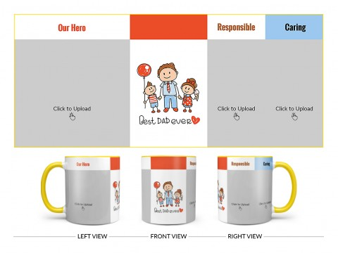 Best Dad Ever Design On Dual Tone Yellow Mug