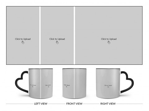 3 Pic Upload Design For Any Occasions & Event Design On Love Handle Dual Tone Black Mug