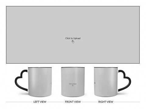 Full Pic Upload Upload Design On Love Handle Dual Tone Black Mug
