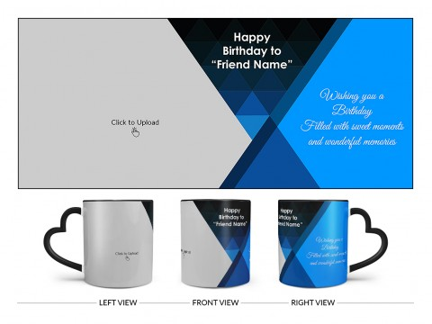 Wishing You A Birthday Filled With Sweet Moments Quote Design On Love Handle Dual Tone Black Mug