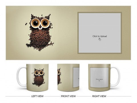 Coffee Beans For Coffee Lovers Design On Plain white Mug