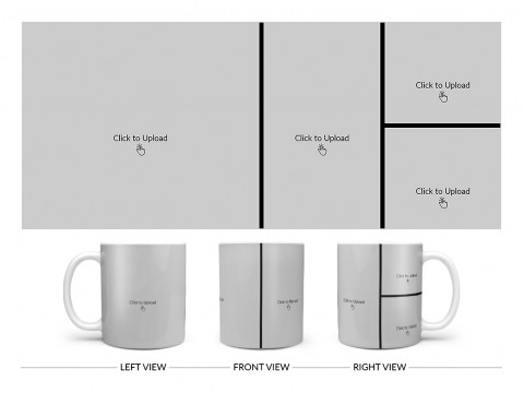 4 Pic Upload Upload Design For Multiple Occasions Design On Plain white Mug