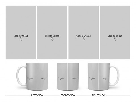 4 Vertical Pic Upload Design For Any Occasions & Event Design On Plain white Mug