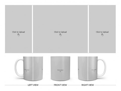 3 Vertical Pic Upload Design For Any Occasions & Event Design On Plain white Mug