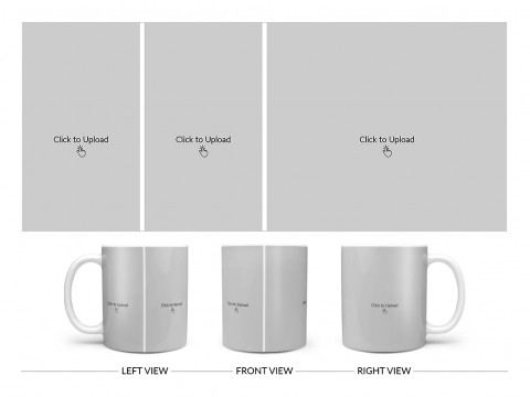 3 Pic Upload Design For Any Occasions & Event Design On Plain white Mug