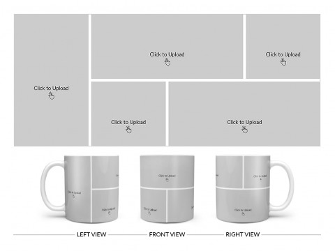 5 Pic Upload Design For Any Occasions & Event Design On Plain white Mug