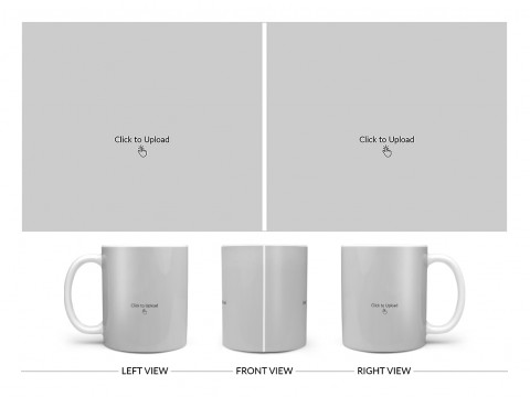 2 Large Pic Upload Design For Any Occasions & Event Design On Plain white Mug