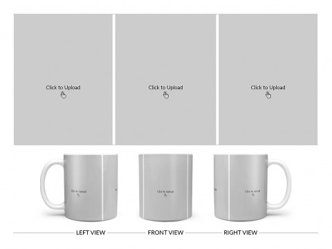 3 Equal Pic Upload Design For Any Occasions & Event Design On Plain white Mug