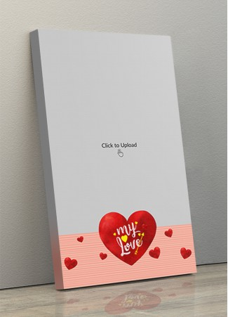 Photo Canvas Frames 10x17 - Red Hearts With Love  Design