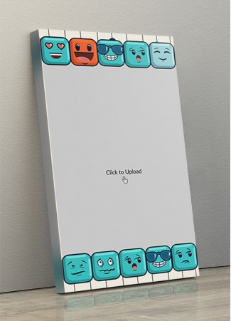 Photo Canvas Frames 10x17 - Emojis Lover Design