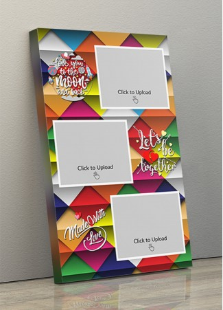 Photo Canvas Frames 10x17 - Let's Be Together With Abstract Backgroud Design