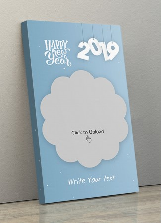 New Year Portrait Canvas Frame with Picture - 10 x 17 Size