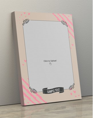 Photo Canvas Frames 12x17 - Love Sketch Background With Floral Frame Design